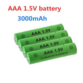 4PCS Rechargeable AAA Battery 3000mAh Battery 1.5V 3000mAh