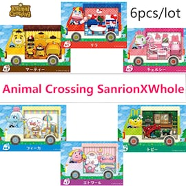 6pcs amiibo ACNH Sanrio Collaboration Pack RV Furniture Cards Compatible with Switch for Animal Crossing New Horizons. Gaming