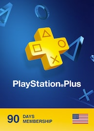 Playstation Plus CARD 90 Days NORTH AMERICA PSN