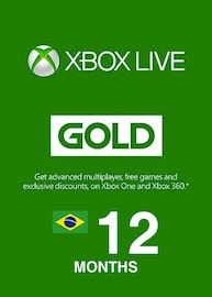 Xbox Live GOLD Subscription Card XBOX LIVE BRAZIL 12 Months