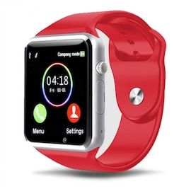 A1 Smart Wrist Watch Bluetooth GSM Phone for Android Samsung iPhone, Red