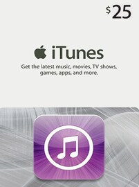 Apple iTunes Gift Card NORTH AMERICA 25 USD iTunes