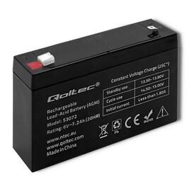 Akumulator Agm Qoltec | 6V | 7.2Ah