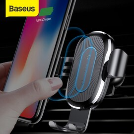 Baseus Fast Wireless Car Charger Air Vent Phone Holder Black