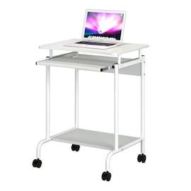 Biurko Komputerowe Techly Mobilne 600X450 Z Szufladą Białe