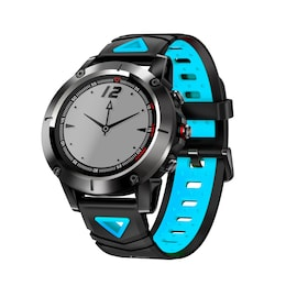 Blue Smart Sports Watch Built-in GPS Fitness Tracker IP68 Waterproof Heart Rate Monitor for Men and Women