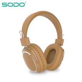 Bluetooth casque sur-oreille filaire sans fil Brown
