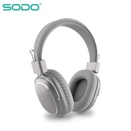 Bluetooth casque sur-oreille filaire sans fil Gray
