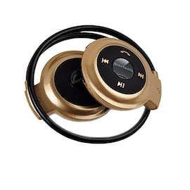 Bluetooth Gaming Headsets Stereo Headset Deep Bass Earphones - GOLD