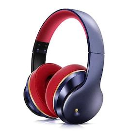 Bluetooth Headphones Active Noise Cancelling Wireless Headset Foldable Hifi Deep Bass Earphones (Blu