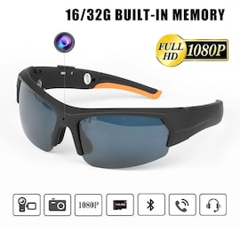 Bluetooth Sunglasses with Mini Camera and Headset HD1080P MP3 Player 32Gb