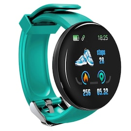 Bluetooth Waterproof Smart Watch D18 with Blood Pressure and Heart Rate Monitor Green