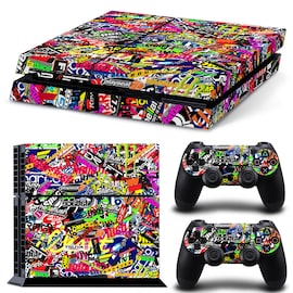Brand New Cool Wallpaper Skin Body Sticker For Customise & Protect Your PS4 Gaming Console   Multi-Colored