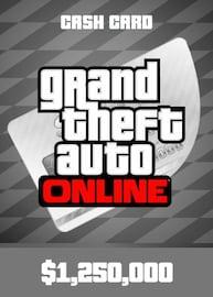 Grand Theft Auto Online: Great White Shark Cash Card Rockstar GLOBAL 1 250 000 USD Key PC