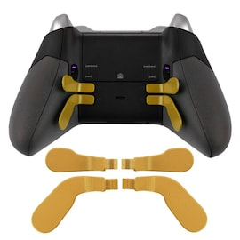 DATA FROG Metal Bumper Trigger Paddles Replacement For Xbox One Elite Controller Gold