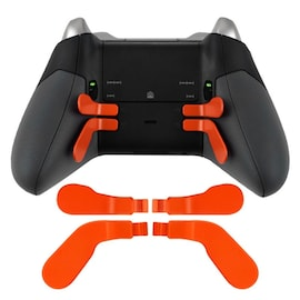 DATA FROG Metal Bumper Trigger Paddles Replacement For Xbox One Elite Controller Orange