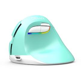 Delux M618 Mini Mint Pionowa ergonomiczna myszka bezprzewodowa RGB