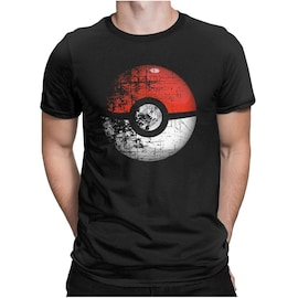 Destroyed Pokemon Go Team Red Pokeball Leisure T Shirts Man Short Sleeved Tops New Tees Purified Cotton
