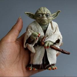 Disney Star Space Wars Master Yoda PVC Action Figure Toy Yoda Model Collectible Toys For Children Boys Christmas Birthda Movie & TV