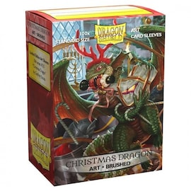 Dragon Shield - Brushed Art Sleeves - Christmas Dragon 2020
