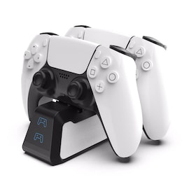 Dual Fast Charging Station for PlayStation 5 controllers USB 3.1 / Type-C White