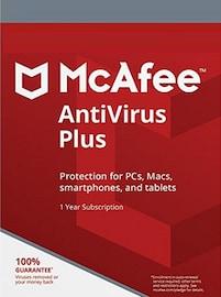 McAfee AntiVirus Plus 3 Devices 1 Year PC Key GLOBAL