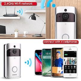 EKENx V5 Smart WiFi Video Doorbell Camera Visual Intercom With Chime Night vision IP Door Bell Wireless Home Security Ca