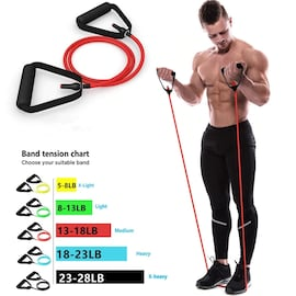Elastic Resistance Bands With Handles for Home Exercises and Yoga