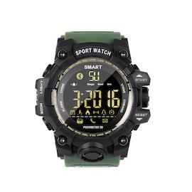 EX16S Waterproof Smart Sport Watch Bluetooth Pedometer Men Wristwatch Green