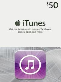 Apple iTunes Gift Card NORTH AMERICA 50 USD iTunes