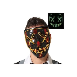 Face LED Light Up Sound Activated Mask  | Full-Face - Halloween