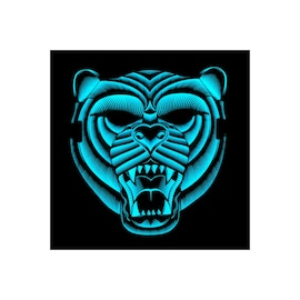 Face LED Light Up Sound Activated Mask  | Full-Face - Tiger
