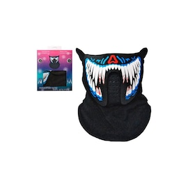 Face LED Light Up Sound Activated Mask  | Half-Face - Monster