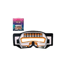 Face LED Light Up Sound Activated Mask  | Half-Face - Robotic