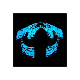Face LED Light Up Sound Activated Mask  | Half-Face - Skeleton