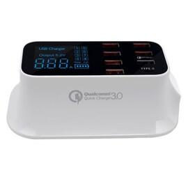 Fast Charging Station Multiple USB Charger 7 Port Desktop Charger Hub LED Display Power Adapter US Plug