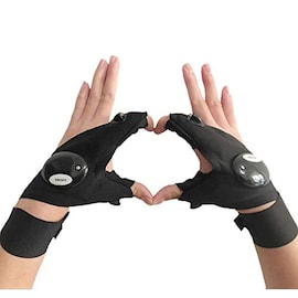 Fingerless LED Flashlight Gloves for Repairing