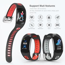 Fitness Tracker Bracelet- Heart Rate Monitor, Distance Counter, Pedometer, IP68.Waterproof Black
