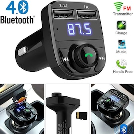 FM Transmitter Aux Modulator Bluetooth Handsfree Car Kit Car Audio MP3 Player with 3.1A Quick Charge
