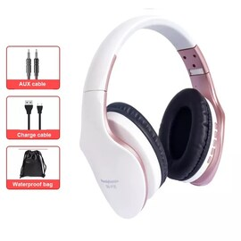 Foldable Adjustable Gaming Earphones With Mic For PC Phone Gold