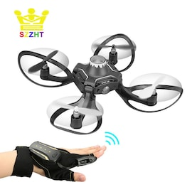Foldable Drone Aircraft FPV Quadrocopters with HD Camera and Glove Hand Sensor