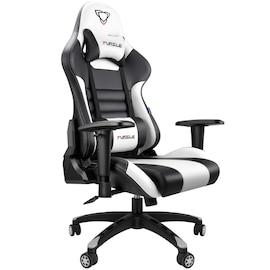 FURGLE ADJUSTABLE GAMING CHAIR Gaming Chair Black & white Gaming