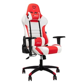FURGLE ADJUSTABLE GAMING CHAIR Gaming Chair Black & white & red Gaming