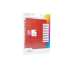 Gamegenic: 18-Pocket Pages Sideloading - Red (10 szt)