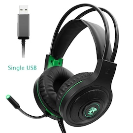Gaming Headset 7.1 Stereo with Microphone Voice Control for PC PS4 Laptop Black