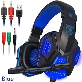 Gaming Headset EastVita PC780 with lighting microphone and bass earphones for PC / PS4 / Xbox - Blue