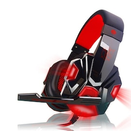 Gaming Headset EastVita PC780 with lighting microphone and bass earphones for PC / PS4 / Xbox - Red