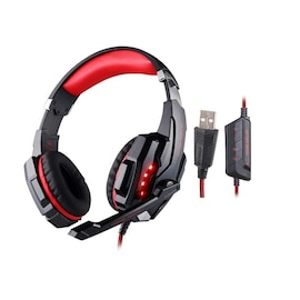 Gaming Headset for PlayStation PS4 Tablet PC 3.5mm Headphone Mic for Laptop Red