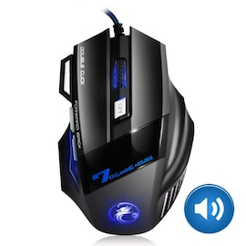 Gaming Mouse Computer Ergonomic Mouse Wired Black