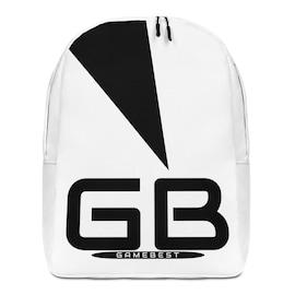 GB-I1 Modern Minimalist  Black & White Backpack.